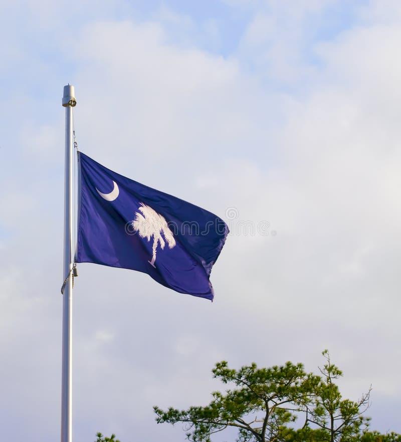 Południowa Karolina flaga przy Mile widziany centrum obrazy stock
