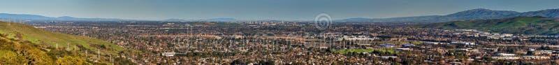 Południowa San Fransisco Podpalana panorama fotografia stock