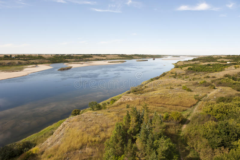 Południowa Saskatchewan rzeka obraz stock