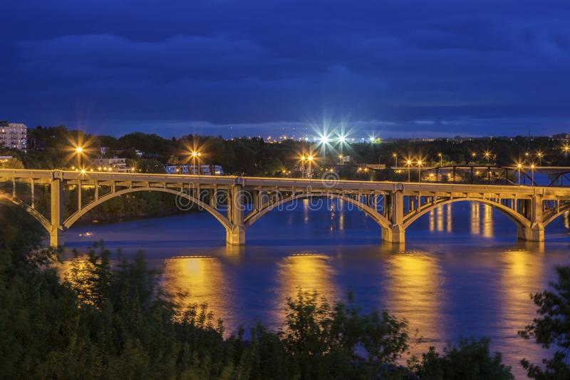 Południowa Saskatchewan rzeka w Saskatoon fotografia royalty free