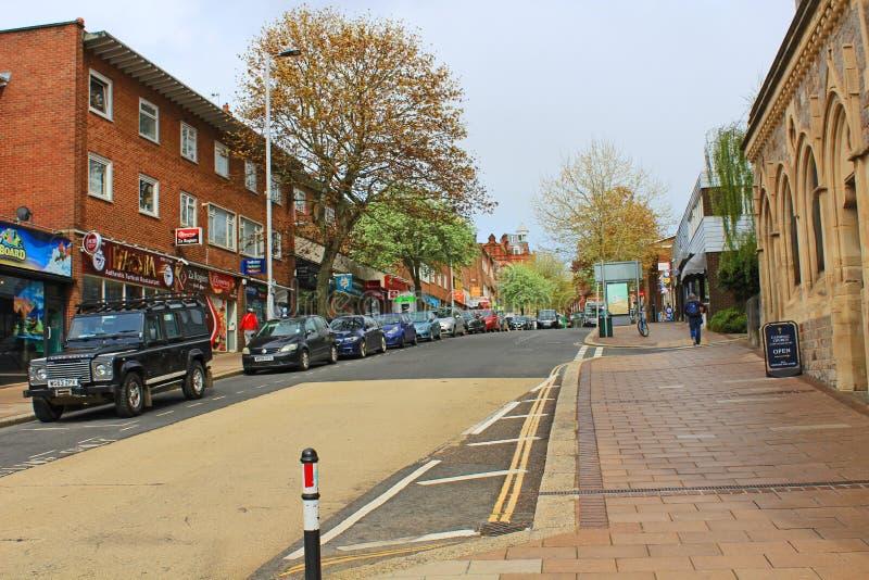 Południowa ulica, Exeter, przyglądająca północ zdjęcie stock