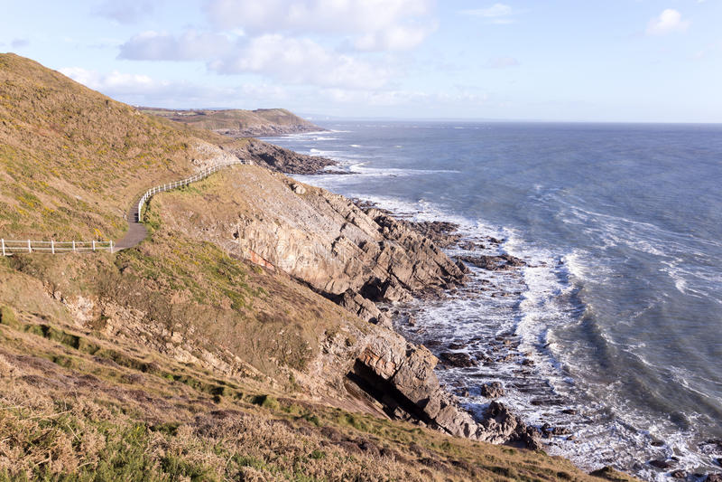 Południowe Walie Suną ścieżkę zdjęcie royalty free