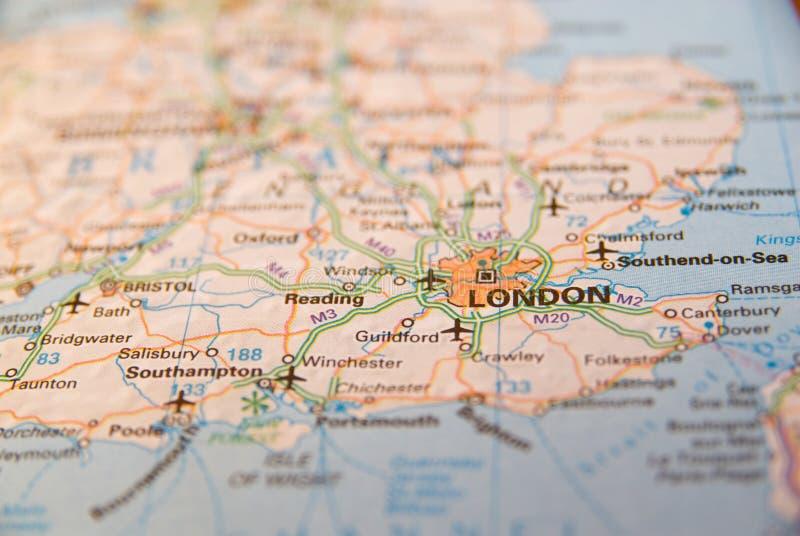 Południowe wybrzeże Anglia mapa obraz stock