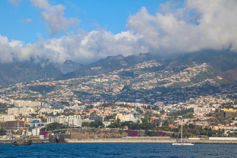 Południowe wybrzeże Madeira obraz stock