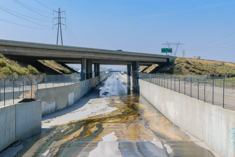 Południowego Kalifornia burzy odcieki zdjęcia stock