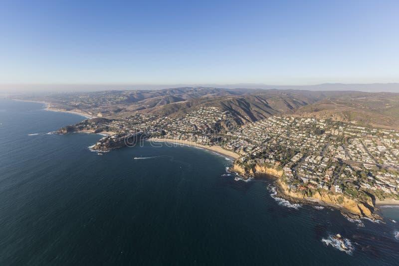 Południowego Kalifornia laguna beach linii brzegowej antena obrazy royalty free