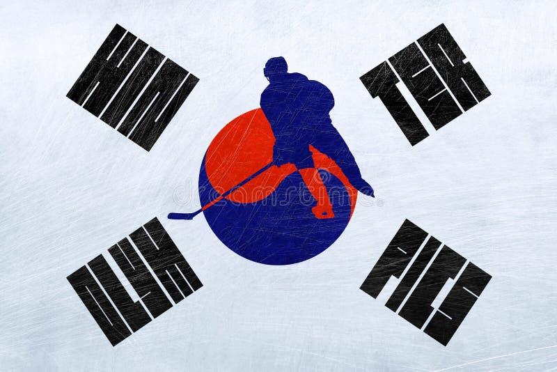 Południowego Korea olimpiady zimowe - Lodowy hokej ilustracja wektor