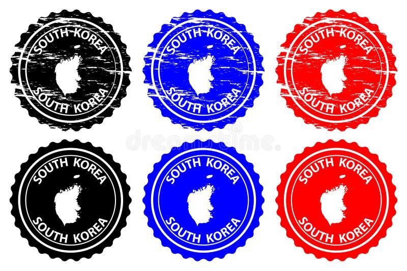 Południowego Korea pieczątka royalty ilustracja