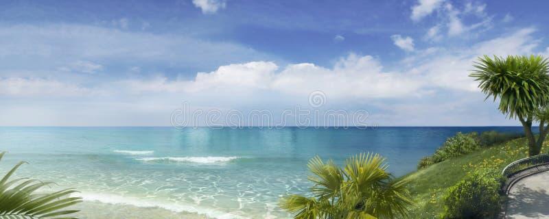 Południowego morza panorama obraz royalty free