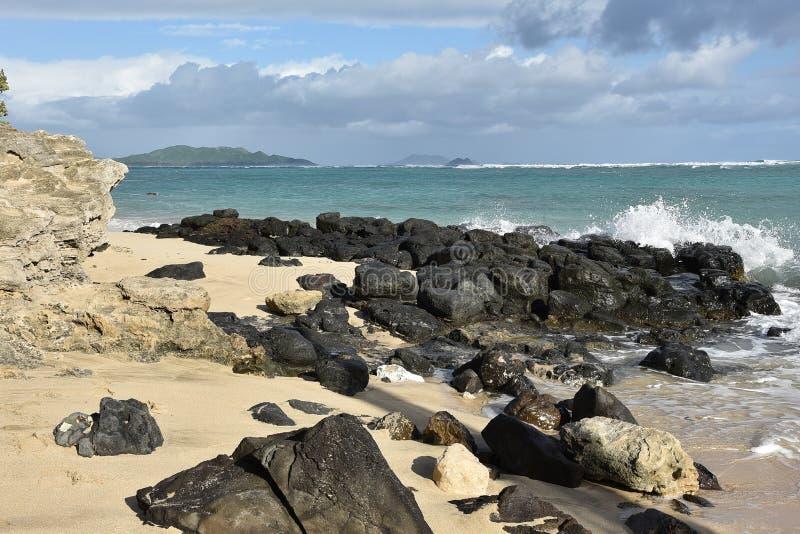 Południowego wschodu wybrzeże Oahu wyspa hawajczycy zdjęcie royalty free