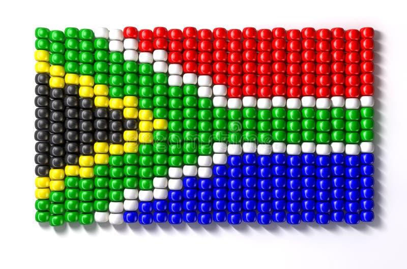 Południowo Afrykański Zulu Koralika Flaga ilustracja wektor