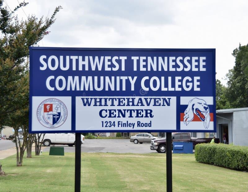 Południowo-zachodni Tennessee college społecznego Whitehaven centrum zdjęcia royalty free