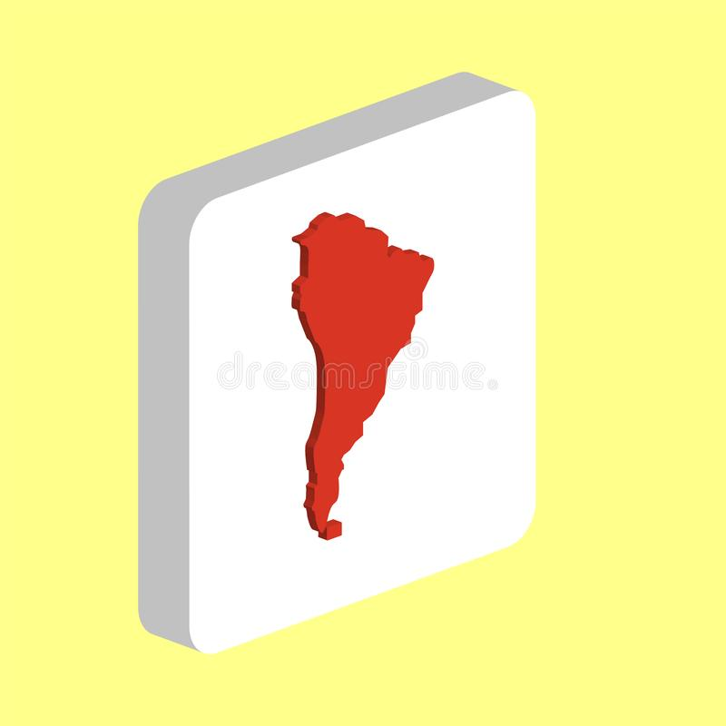 Południowy America komputeru symbol ilustracja wektor