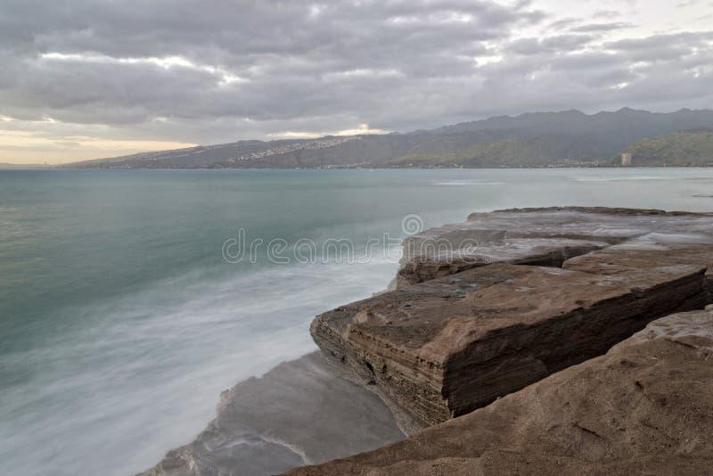 Południowy brzeg Hawaje Tęsk ujawnienie fotografia royalty free