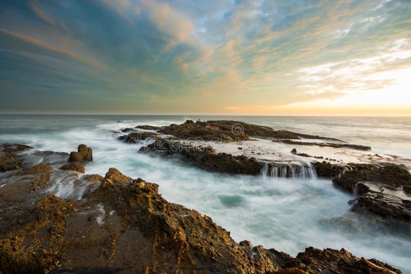 południowy California piękny seascape zdjęcia royalty free