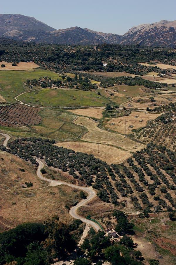 Południowy Hiszpania krajobraz fotografia stock