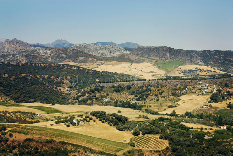 Południowy Hiszpania krajobraz obraz stock