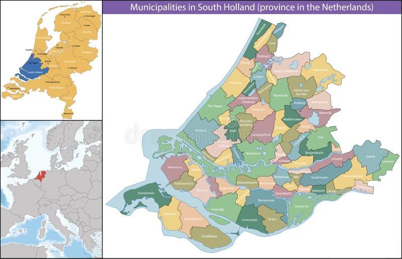 Południowy Holandia jest prowincją holandie obraz stock