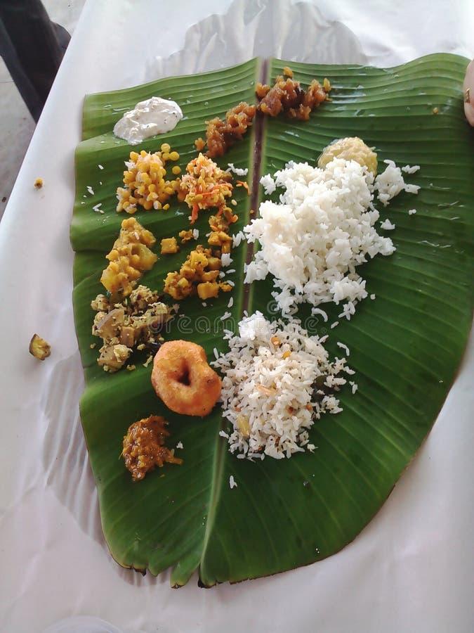 Południowy indyjski tamilian jedzenie zdjęcie royalty free