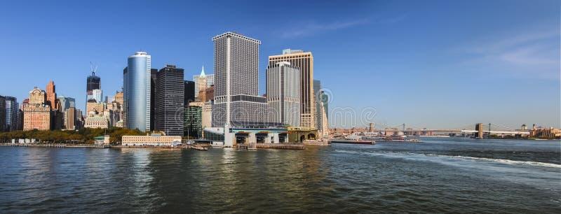 Południowy Manhattan, Miasto Nowy Jork pejzażu miejskiego panorama obrazy royalty free