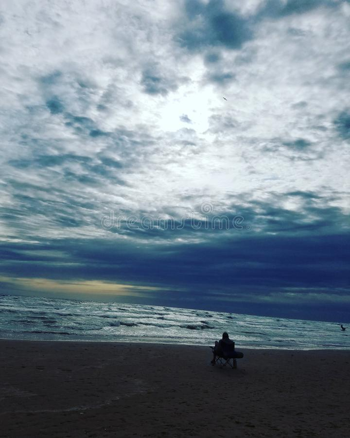 Południowy Padre wyspy plaży wakacje zdjęcia stock