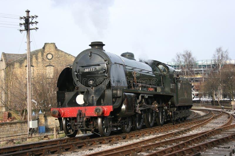 Południowy parowozowy Sir Lamiel liczba 30777 przy Keighley, Keighley a obrazy royalty free