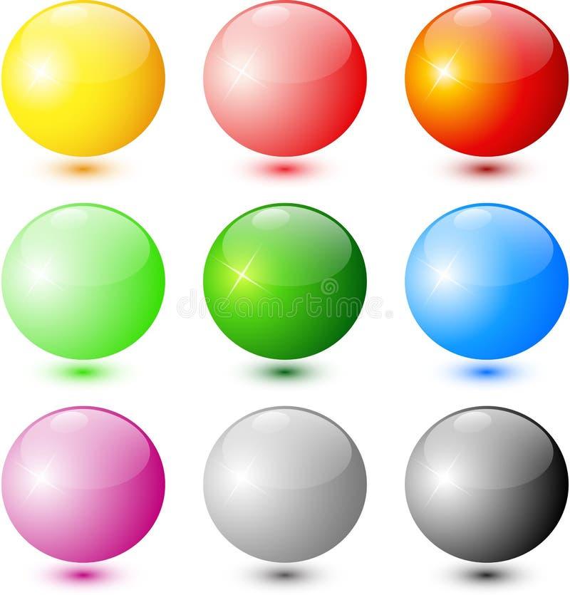 połysk barwione sfery obrazy stock