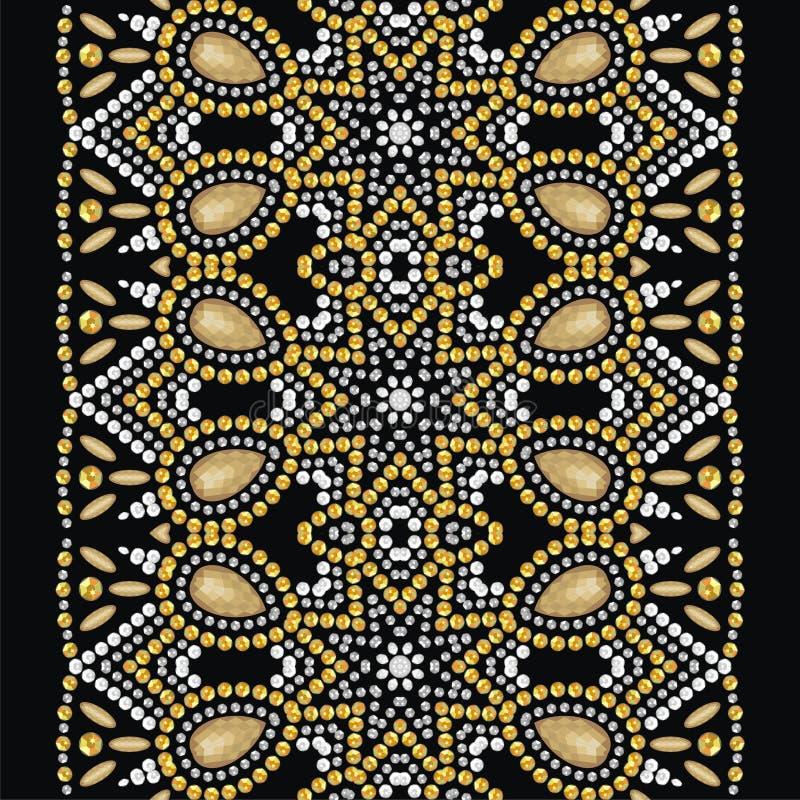 Połysk mody wzór od genialnych kamieni, rhinestones ilustracji