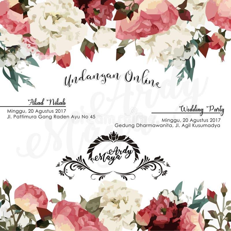 Poślubiać E zaproszenie zdjęcia royalty free
