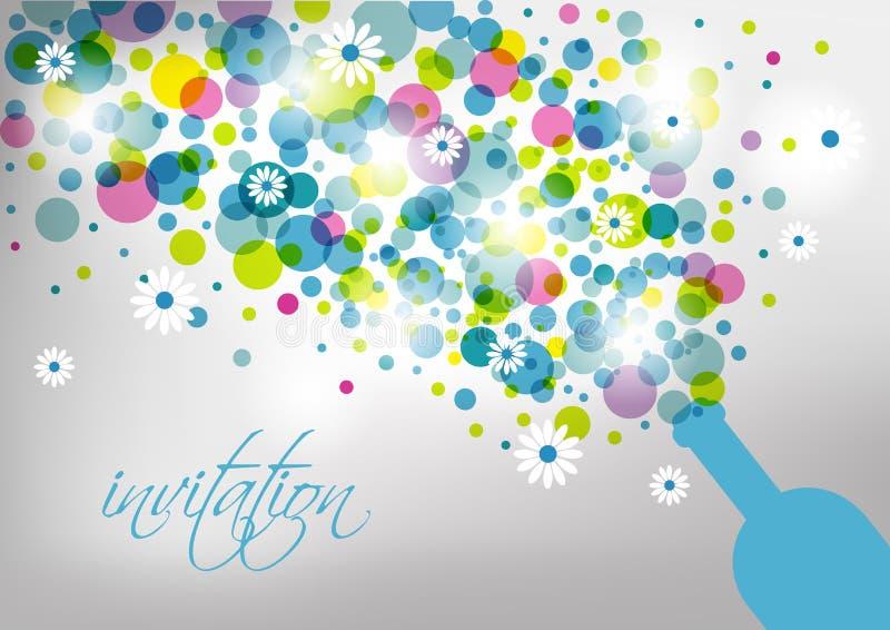 Poślubiać i zaproszenia karta ilustracja wektor