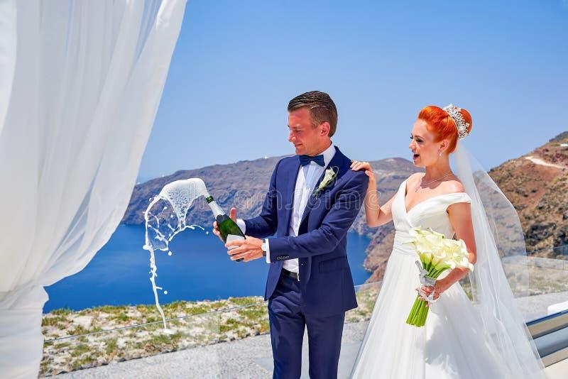 Poślubiać na Santorini obraz royalty free