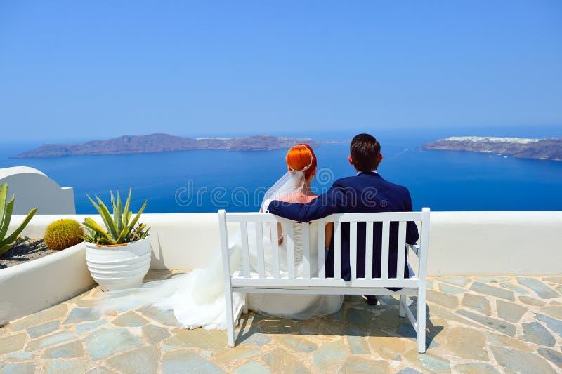 Poślubiać na Santorini zdjęcie royalty free