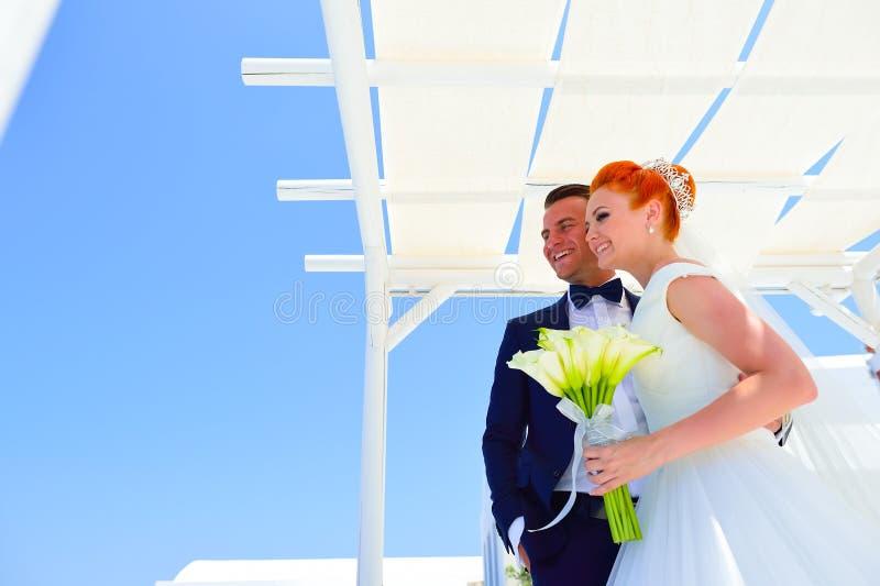 Poślubiać na Santorini zdjęcia royalty free