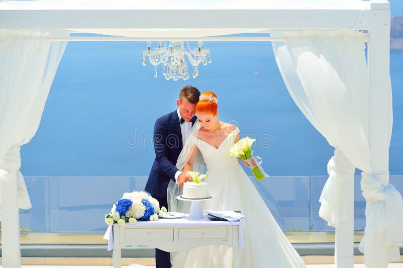 Poślubiać na Santorini fotografia stock