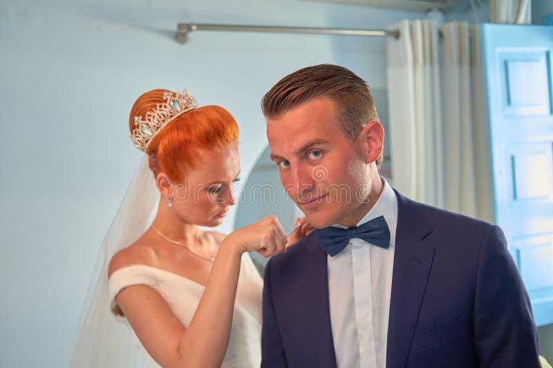 Poślubiać na Santorini zdjęcie stock