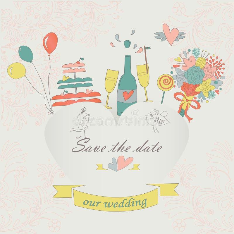 Poślubiać set ilustracji