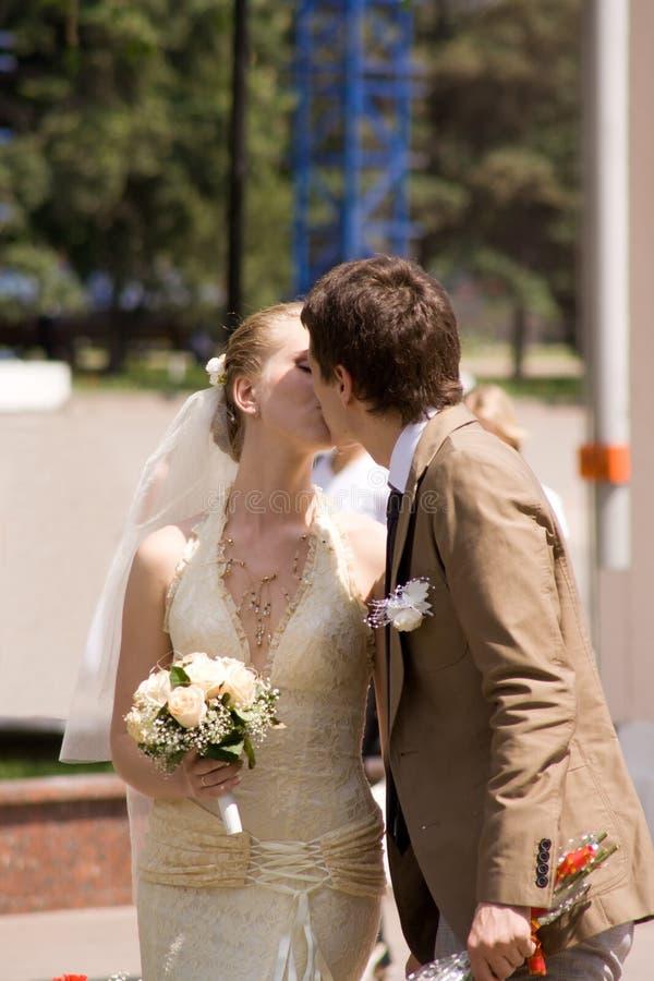 Poślubiająca para zdjęcie royalty free