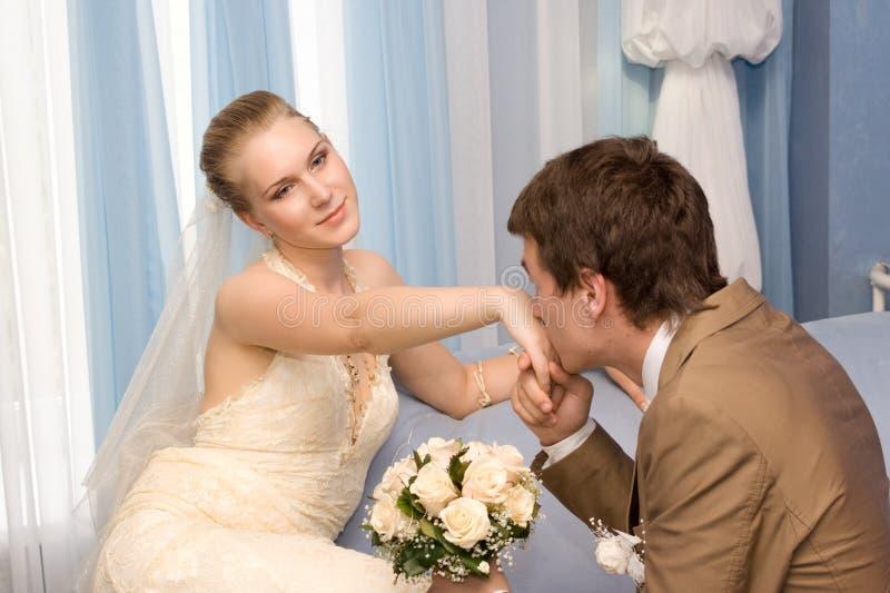 Poślubiająca para obrazy stock