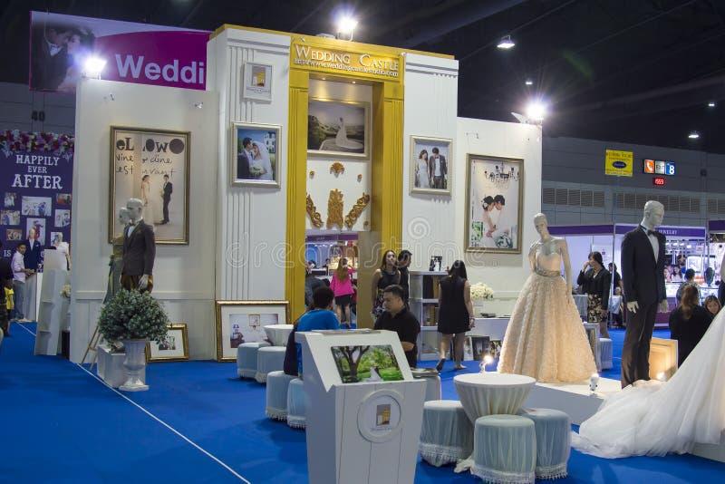 Poślubiający Festiva w Tajlandia Jeden przerwa zakupy expo 2015 zdjęcie stock