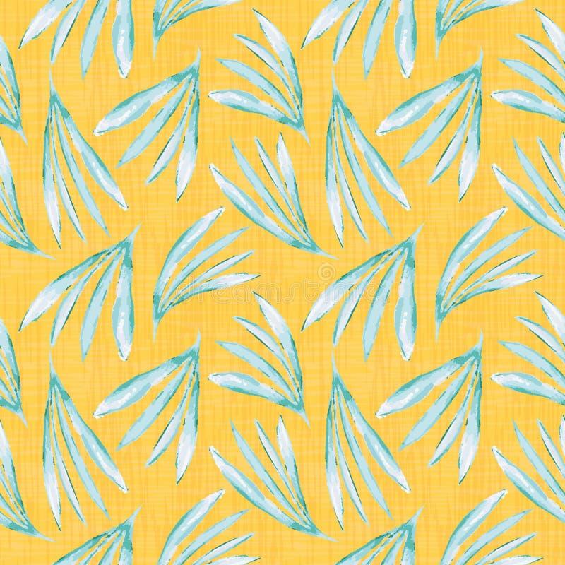 Poślubnik inspirujący zielony wodnego colour liści projekt na wibrującej pomarańczowej kanwie textured tło 1866 opiera?y si? Karo ilustracja wektor