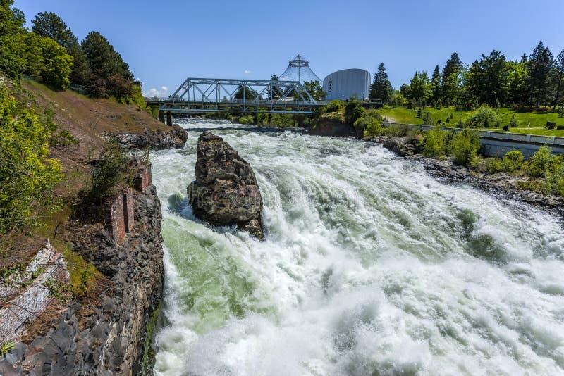 Pośpiech Spokane spadki fotografia royalty free