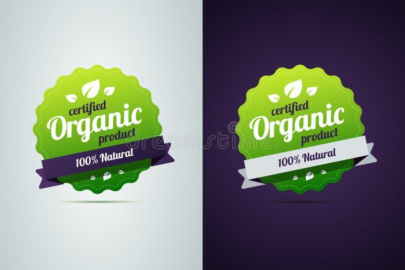 Poświadczający organicznie produkt royalty ilustracja