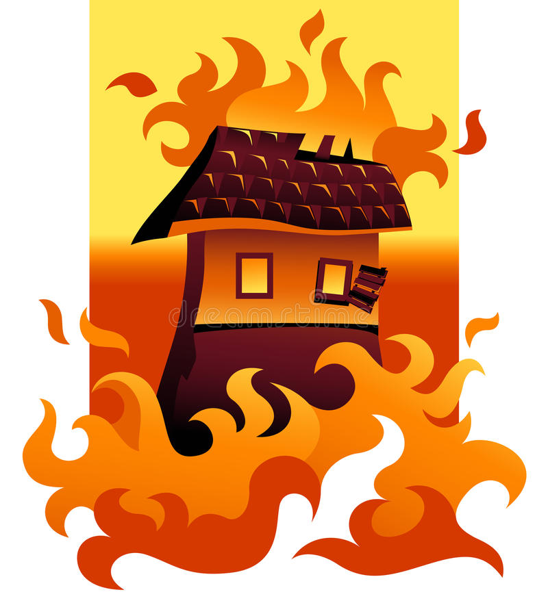 pożar ilustracja wektor