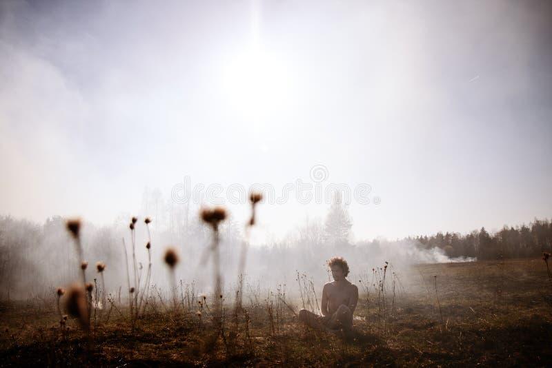 pożar ogień Globalny nagrzanie, środowiskowa katastrofa Conce zdjęcia royalty free