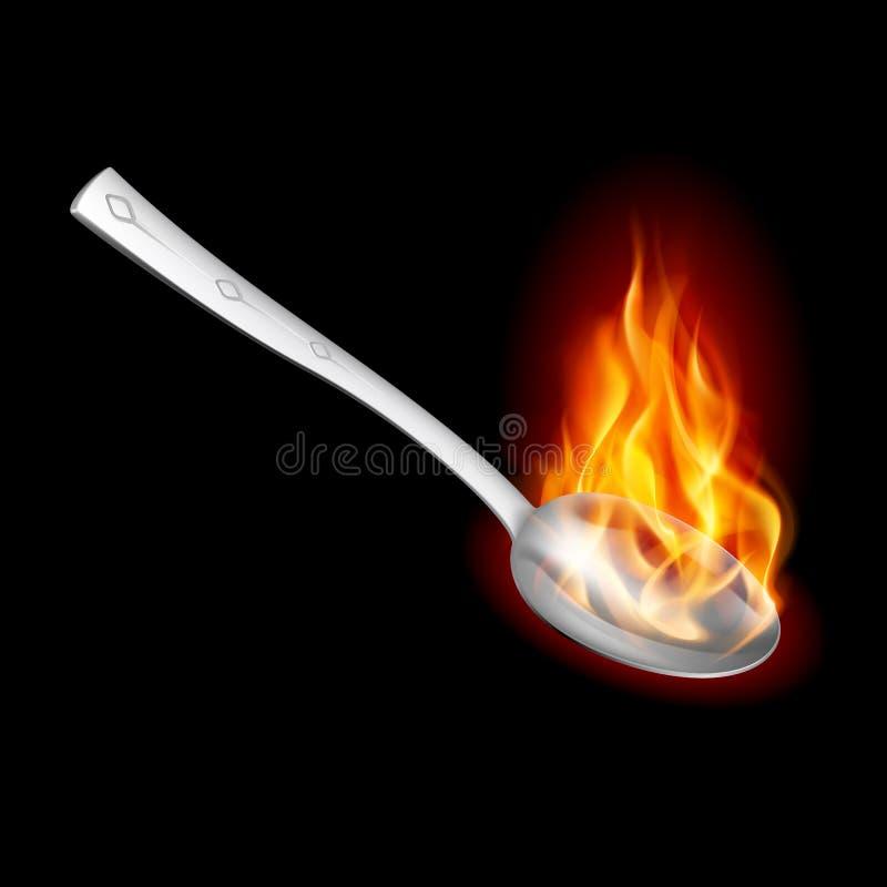 pożarnicza łyżka royalty ilustracja