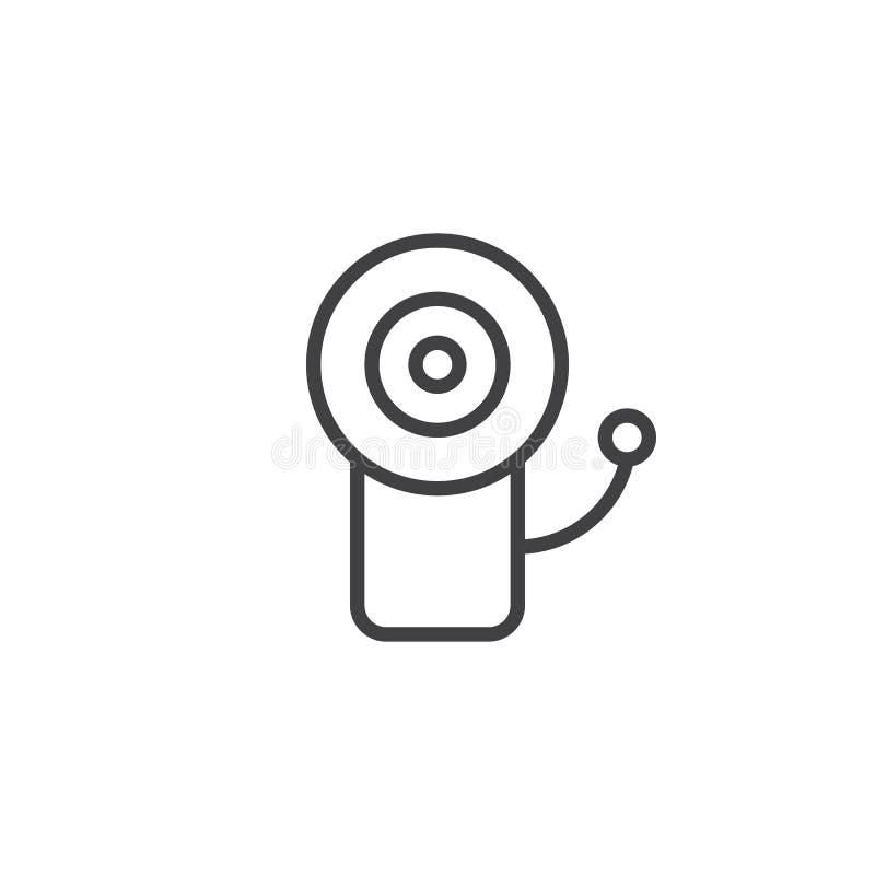 Pożarnicza alarmowego systemu linii ikona royalty ilustracja