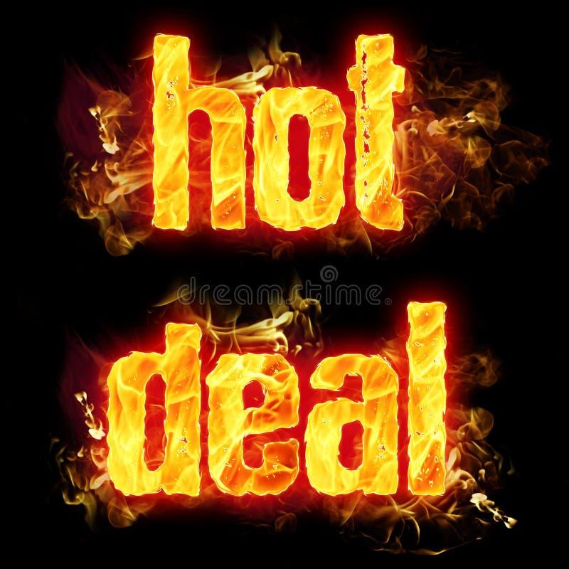 Pożarnicza Gorąca transakcja royalty ilustracja