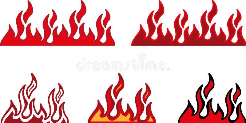 Pożarnicza granica ilustracji