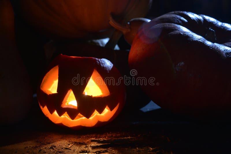 Pożarnicza Halloween bania zdjęcie royalty free