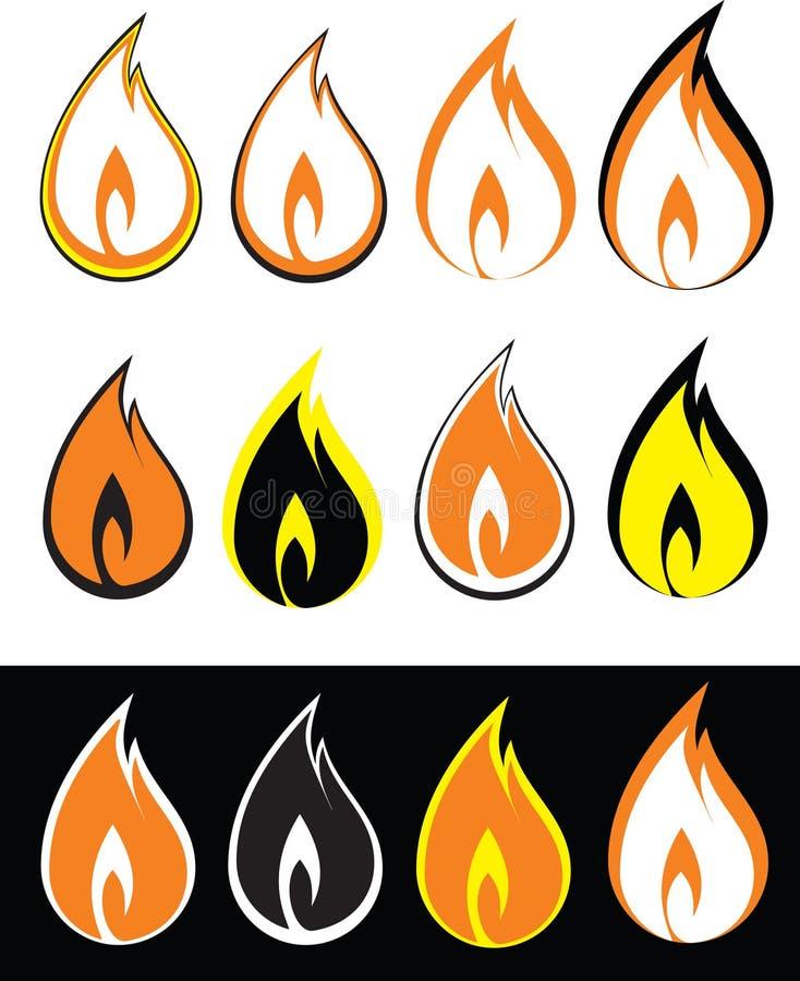 pożarnicza ikona obraz stock